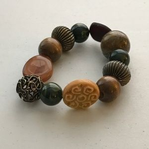 Boho Beaded Stretch Bracelet